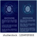 identification fingerprints... | Shutterstock .eps vector #1204939303