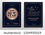 new year party invitation cards ... | Shutterstock .eps vector #1204950319