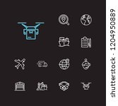 logistics icons set....
