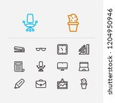 workspace icons set. case and...