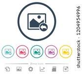 undo image changes flat color...   Shutterstock .eps vector #1204954996