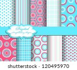 set of vector pattern paper for ... | Shutterstock .eps vector #120495970
