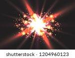 light effect glow. star flashed ... | Shutterstock .eps vector #1204960123