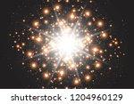 light effect glow. star flashed ... | Shutterstock .eps vector #1204960129