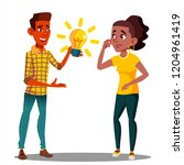 submit an idea  one student...   Shutterstock .eps vector #1204961419