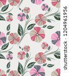 seamless cute floral pattern | Shutterstock .eps vector #1204961956