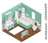 the isometric style design of a ... | Shutterstock .eps vector #1204965499