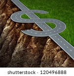 financial cliff or fiscal risk... | Shutterstock . vector #120496888