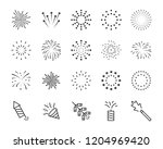 set of firework line icons | Shutterstock .eps vector #1204969420