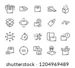 set of send icons  such as... | Shutterstock .eps vector #1204969489