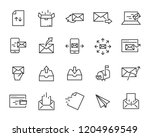 set of send icons  such as... | Shutterstock .eps vector #1204969549