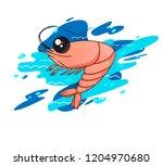 illustration with shrimp....   Shutterstock .eps vector #1204970680