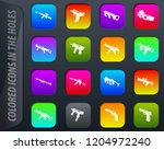 hand weapons colored icons in...   Shutterstock .eps vector #1204972240