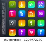 work tools colored icons in the ...   Shutterstock .eps vector #1204972270