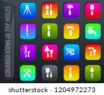 work tools colored icons in the ...   Shutterstock .eps vector #1204972273