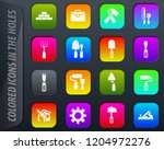 work tools colored icons in the ...   Shutterstock .eps vector #1204972276