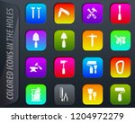 work tools colored icons in the ...   Shutterstock .eps vector #1204972279