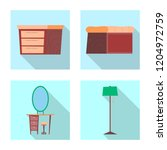 isolated object of furniture... | Shutterstock .eps vector #1204972759