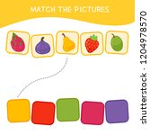 matching children educational... | Shutterstock .eps vector #1204978570