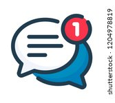 two chat speech bubbles with... | Shutterstock .eps vector #1204978819