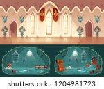 vector set of cartoon game... | Shutterstock .eps vector #1204981723
