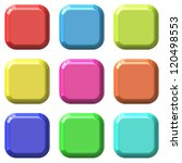 color blank square glossy... | Shutterstock . vector #120498553