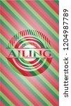 ailing christmas emblem...   Shutterstock .eps vector #1204987789