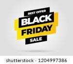 black friday sale inscription... | Shutterstock .eps vector #1204997386