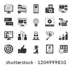 blogging online glyph icons set....   Shutterstock .eps vector #1204999810