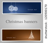set of christmas banners  tree... | Shutterstock .eps vector #120500170