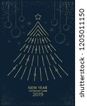 new year greeting card design... | Shutterstock .eps vector #1205011150