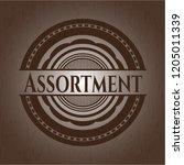 assortment wood emblem. retro | Shutterstock .eps vector #1205011339