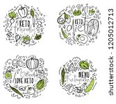 keto friendly  keto diet  my... | Shutterstock .eps vector #1205012713