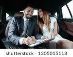 beautiful business woman... | Shutterstock . vector #1205015113