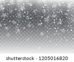falling snow  snowflakes.... | Shutterstock .eps vector #1205016820
