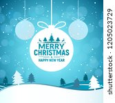 2018 christmas and happy new... | Shutterstock . vector #1205023729
