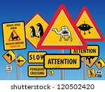 road signs chaos  vector... | Shutterstock .eps vector #120502420