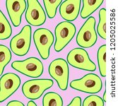 the pattern of avocado. pink...   Shutterstock .eps vector #1205025586