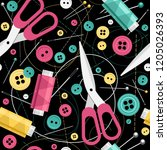 seamless pattern with colorful... | Shutterstock .eps vector #1205026393