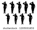 soldier vector black style. | Shutterstock .eps vector #1205031853