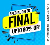 final sale special offer banner ... | Shutterstock .eps vector #1205037646