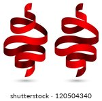 red ribbons design | Shutterstock .eps vector #120504340
