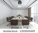 3d rendering company's modern...   Shutterstock . vector #1205045449