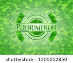 phenomenon green emblem with... | Shutterstock .eps vector #1205052850