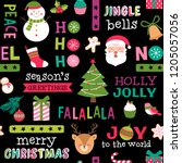 cute colorful christmas... | Shutterstock .eps vector #1205057056