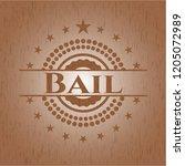 bail retro style wood emblem | Shutterstock .eps vector #1205072989