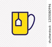 vector illustration of coffee... | Shutterstock .eps vector #1205080996