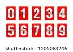 Flip Countdown Clock   Vector...