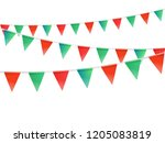 color flags garland... | Shutterstock .eps vector #1205083819