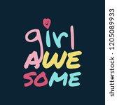 cute t shirt girl design. girls ... | Shutterstock .eps vector #1205089933